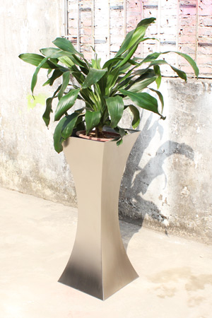 custom metal flowerpot