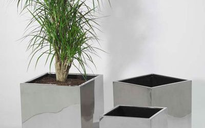 Keep Up With Gardening With Simple Stainless Steel Flower Pot