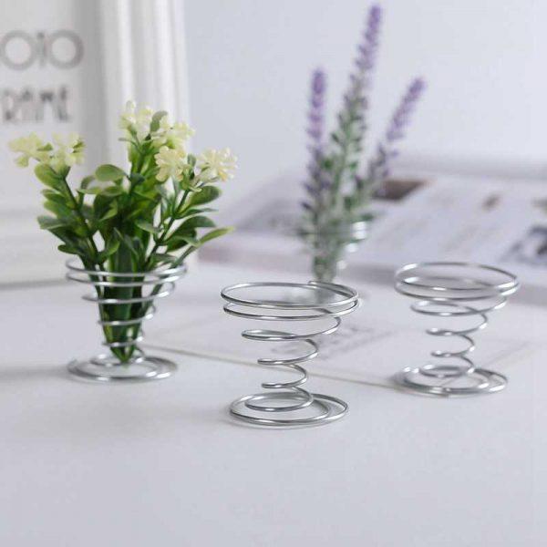 Stainless steel flowerpots shelf art small round