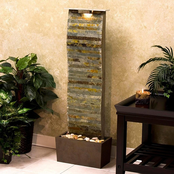 Modern indoor water fountains